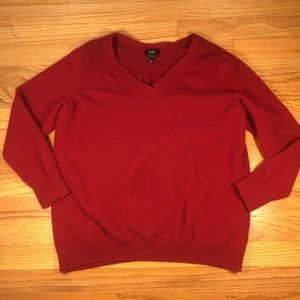 Talbots 100% cashmere red sweater size 2x petite